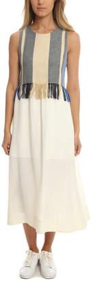 Sea Gauze Combo Maxi Dress