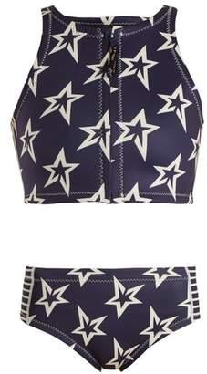 Perfect Moment - Star Neo High Waisted Bikini - Womens - Navy