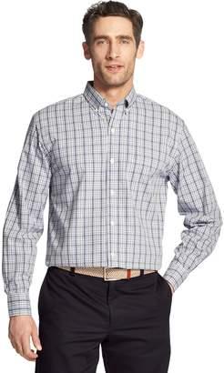 Izod Men's Premium Essentials Classic-Fit Plaid Stretch Button-Down Shirt