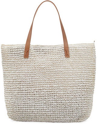 Seafolly Carried Away Beach Tote Bag, White $92 thestylecure.com