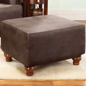 Sure Fit Stretch Leather Ottoman Slipcover
