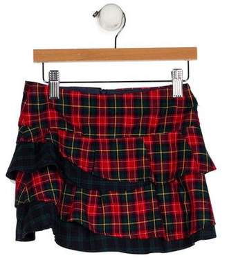Florence Eiseman Plaid Ruffled Skirt
