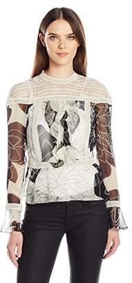 Tracy Reese Women's Flounce Victorian Blouse