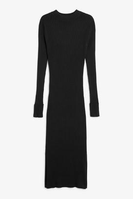 Monki Long ribbed dress