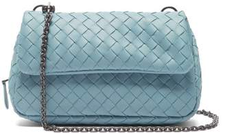6c23039b30 Bottega Veneta Intrecciato Mini Leather Messenger Cross Body Bag - Womens -  Light Blue