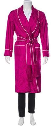 Tom Ford Abstract Jacquard Mulberry Silk Robe