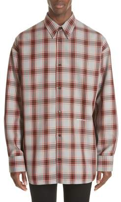 Calvin Klein Oversize Plaid Twill Shirt
