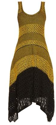 Proenza Schouler - Bi Colour Crochet Dress - Womens - Yellow Multi