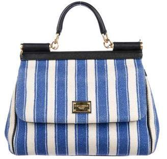 Dolce & Gabbana Medium Striped Miss Sicily Bag