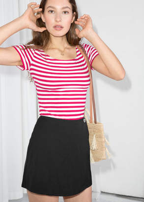 And other stories Striped Boatneck Tee