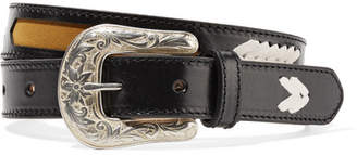 Isabel Marant Tigoo Embroidered Leather Belt - Black