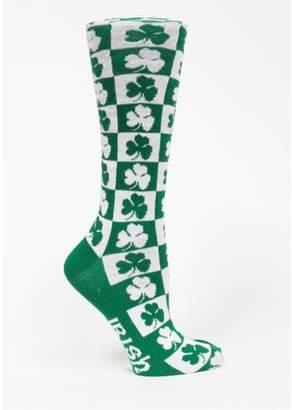 Donegal Bay Irish St Patrick's Day Checkerboard Dress Socks