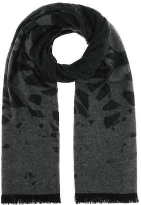 McQ Swallow jacquard wool-blend scarf