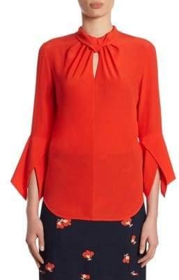 Victoria Beckham Ruched Silk Top