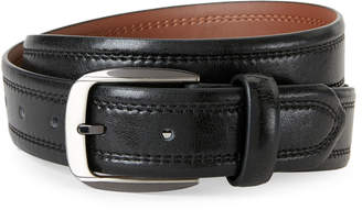 Bosca Black & Brown Double Stitch Belt