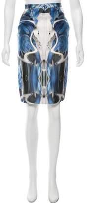 Prabal Gurung Silk-Blend Printed Skirt blue Silk-Blend Printed Skirt