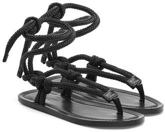 Saint Laurent Rope Sandals with Leather
