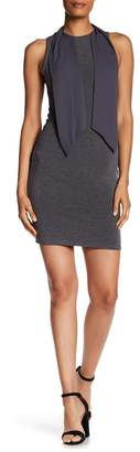 Alice + Olivia Mary Fitted Neck Tie Dress