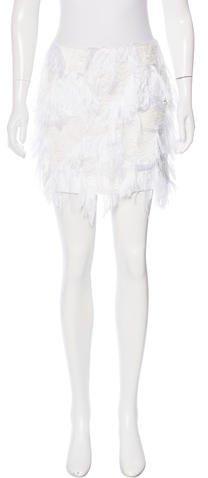 MSGM Fil Coupé Mini Skirt