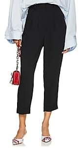 MM6 MAISON MARGIELA Women's Crepe Drop-Rise Tapered Trousers - Black
