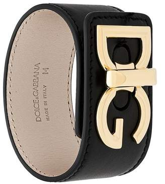 Dolce & Gabbana logo plaque cuff bracelet