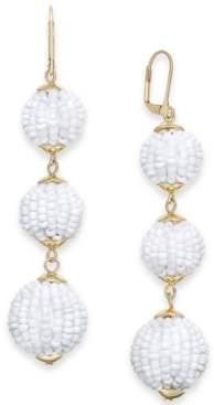 INC International Concepts I.n.c. Gold-Tone Beaded Ball Triple Drop Earrings, Created for Macy's