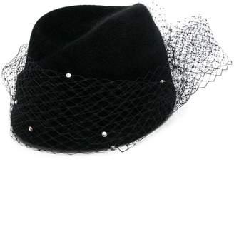 Alexandre Vauthier mesh detail hat