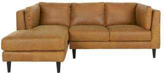 Lindon Left Hand Facing Chaise End Corner Sofa, Outback Tan Leather