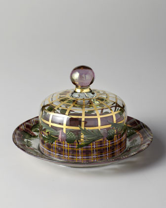 "Mackenzie Childs MacKenzie-Childs ""Thistle"" Dome & Charger Set"