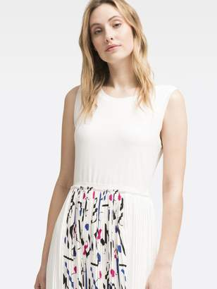 DKNY Printed Crew Neck Dress