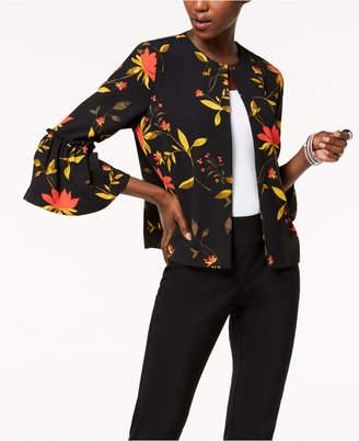 Alfani Printed Bell-Sleeve Jacket, Created for Macy's