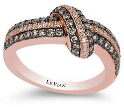 LeVian LE VIAN Swirl Collection 14K Rose Gold Diamond Ring