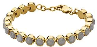 Gold Plated Stainless Steel Tennis Bracelet Made with Swarovski Elements of Length 17.5-22.5cm Extension 328902 ljlQ3E7xX