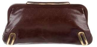 Brian Atwood Leather Frame Clutch