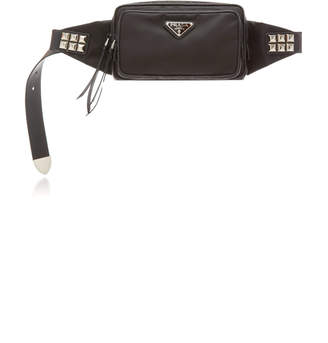 Prada Stud-Embellished Belt Bag Size: M