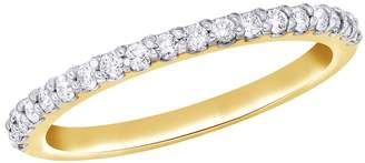 AFFY White Natural Diamond Anniversary Band Ring In 14k Solid Gold (0.2 Ct)