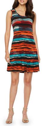 Ronni Nicole Sleeveless Stripe Shift Dress