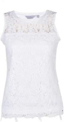 fb959aba5d0911 Dorothy Perkins Womens Petite Ivory Lace Shell Top