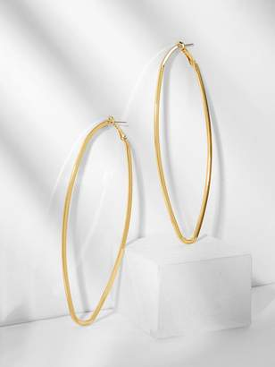 Shein Oval Shaped Oversize Long Hoop Earrings 1pair