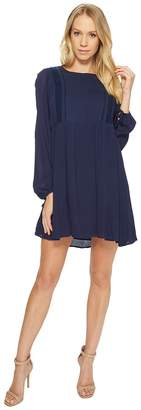 American Rose Olivia Long Sleeve Dress with Lace Detail Women's Dress