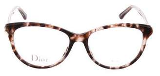 Christian Dior Patterned Cat-Eye Eyeglasses w/ Tags