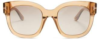 Tom Ford Beatrix Square Frame Sunglasses - Womens - Light Brown
