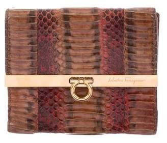 Salvatore Ferragamo Python Compact Wallet
