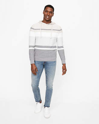 Express Striped Hooded Sweater