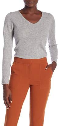 Magaschoni M BY Long Sleeve V-Neck Cashmere Sweater
