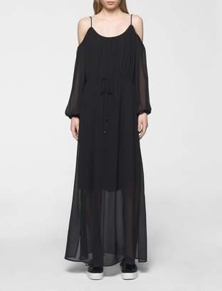 Calvin Klein off-shoulder maxi dress