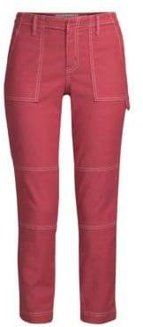 Joie Women's Madella Skinny Ankle Pants - Brick Red - Size 8