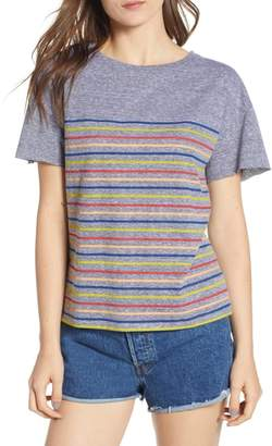 Socialite Placed Stripe Tee