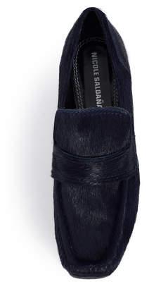 Nicole Saldaña Navy Sage Heel Loafer