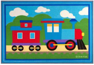Olive Kids Wildkin Trains, Planes, Trucks Blue Area Rug Rug